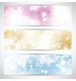 christmas lights banners 2111 vector image vector image