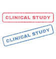 clinical study textile stamps vector image vector image