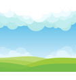 cloud lanscape background vector image vector image