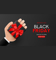 concept of black friday sale web banner template vector image