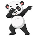 cute panda cartoon in dabbing pose vector image vector image