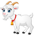 cute white goat cartoon vector image vector image
