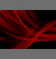 dark red abstract flowing waves background vector image vector image