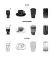 design drink and bar logo set drink vector image