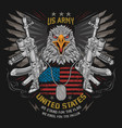 eagle usa flag and weapon with editable lay vector image vector image