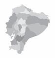 ecuador regions map vector image vector image