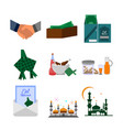 eid mubarak group design set vector image vector image