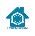 family home logo vector image vector image