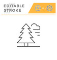 forest editable stroke line icon vector image