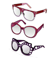 funky glasses vector image vector image