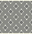 geometric interlaced black pattern vector image vector image