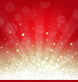 golden and red background with stars vector image