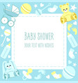 greeting baby shower card vector image vector image
