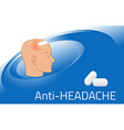 Headache relief medicine Medication packing design vector image