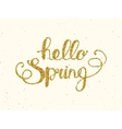Hello spring lettering on background vector image