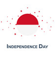 independence day of indonesia patriotic banner vector image