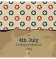 independence day vintage poster template vector image vector image