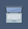 laptop top view flat isolated vector image vector image