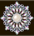 mandala brooch jewelry design element geometric vector image vector image