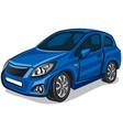 modern blue car vector image vector image
