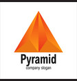 modern orange arrow geometric polygon triangle vector image vector image
