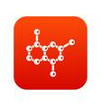 molecule icon digital red vector image vector image