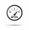 monochrome fuel gauge icon vector image