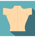 Naked human back icon flat style vector image vector image