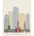 Oklahoma City skyline poster vector image vector image