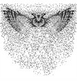 owl fly particle vector image vector image