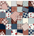 patchwork country squared vector image vector image