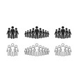 people icon set stick figures crowd icon vector image