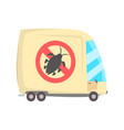 pest controll service van cartoon vector image vector image