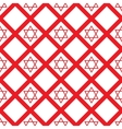 red crystal David seamless pattern vector image