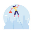 risky business solution concept businesswoman vector image vector image