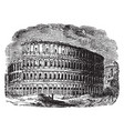 roman amphitheatre at rome air venues with raised vector image vector image