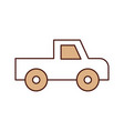 safari van of plato isolated icon vector image