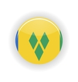 Saint Vincent and Grenadines icon circle vector image