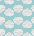 Seashell seamless pattern Scallop vector image