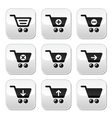 Shopping cart buttons set vector image vector image