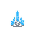 town bike logo icon design vector image vector image