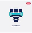 two color clean room icon from cleaning concept vector image vector image