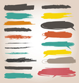 Underlining color samples vector image vector image