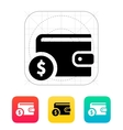 Wallet with dollar icon vector image vector image