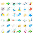 water activity icons set isometric style vector image vector image