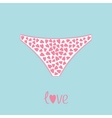 White womens underwear panties with hearts Love vector image vector image