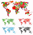 world map created with splats vector image