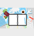 world travel notebook vector image vector image