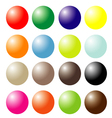 set of colored ball vector image