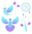Bird wings decorative elements vector image
